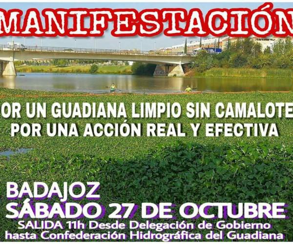 """Convocatoria de Manifestación """"Por un Guadiana limpio, sin camalote, por una acción real y efectiva""""."""