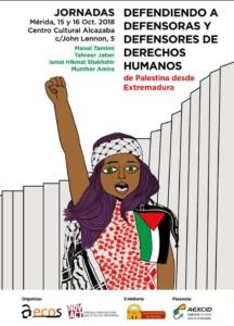 Jornadas Defendiendo a defensoras Derechos Humanos de Palestina @ Centro Cultural Alcazaba