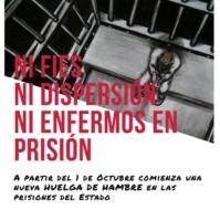 """""""La Lucha En Las Cárceles Se Reactiva Con Una Nueva Huelga De Hambre A Partir Del 1 De Octubre"""""""