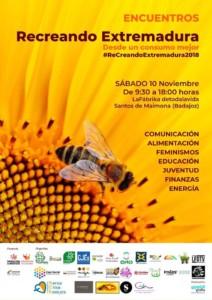 Encuentros Recreando Extremadura desde un consumo mejor @ 10-N La Fábrika de toda la vida  y 1-D La nave del duende