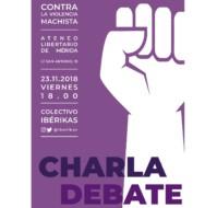Charla - Debate: Contra la violencia machista