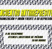 Encuentro Antirrepresivo en Mérida