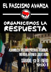Asamblea Antirrepresiva Regional @ Ateneo Libertario de Merida