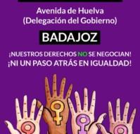 [ Concentración ] Ni un paso atrás en igualdad #Badajoz