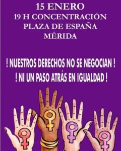 [ Concentración ] Ni un paso atrás en igualdad #Mérida @ Plaza de España