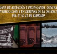Semana de agitación y propaganda contra la gentrificación, la especulación capitalista y en defensa de la okupación (17-24 de febrero)
