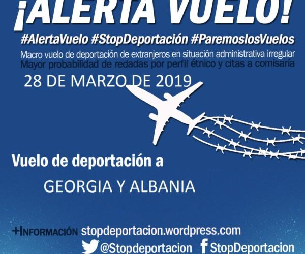 Alerta de deportación con destino a Albania y Georgia el 28 de Marzo
