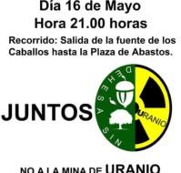 Manifestación No a la mina de Uranio